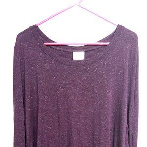 Ava Viv 2x Long Sleeve Purple Top
